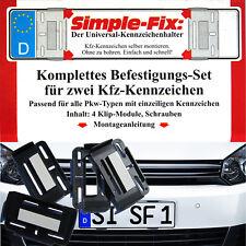 Simple Fix 2x Rahmenlos KFZ Kennzeichenhalter Nummernschildhalter rahmenlose Set