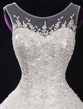 New White/ivory Wedding dress Bridal Gown custom size 6-8-10-12-14-16-18