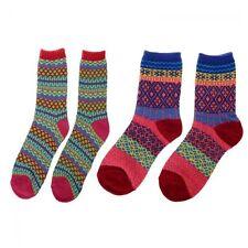 Men Women Design Unisex Socks Cotton Multi-color Stripe