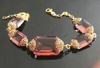 925 Sterling Silver Handmade Authentic Turkish Alexandrite Ladies Bracelet