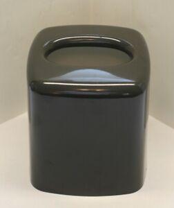 Vintage 1980s Andre Richard Gray Tissue Box Cover Holder Enameled Metal Upright