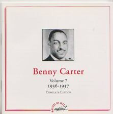 BENNY CARTER    CD  COMPLETE EDITION VOLUME 7  1936-1937