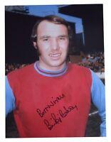 Bryan Pop Robson SIGNED autograph 16x12 HUGE photo West Ham United Football COA
