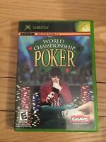 WORLD CHAMPIONSHIP POKER - XBOX - COMPLETE WITH MANUAL - FREE S/H - (TT)
