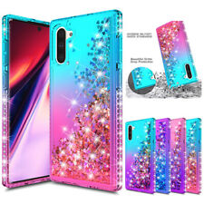 For Samsung Galaxy Note 10 Plus Glitter Liquid Quicksand Shockproof Bling Case