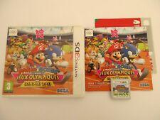 MARIO & SONIC AUX JEUX OLYMPIQUES DE LONDRES 2012 - NINTENDO 3DS - Complet FR