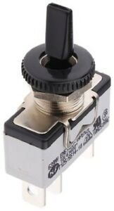 Apem TOGGLE SWITCH 639NH/2 10A 24V DC On-Off-On SPDT, Flat Insulated Lever