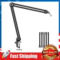 Microphone Stand Suspension Scissor Arm Boom for Streaming,Voice-Over,Recording