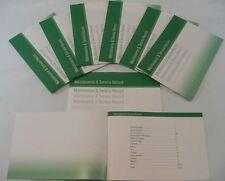 Libro de historial de servicio genérico adecuado para Alma CEED SORENTO PICANTO Verde