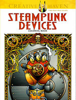 Creative Haven Steampunk Devices Coloring Book by Jeremy Elder (2014, Paperback)