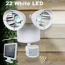New listing Dual Security Detector Solar Spot Light Motion Sensor 22 Led Floodlight White Us