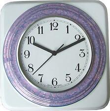 010001F Keramik Küchenuhr Artline quadratisch breiter Violettlüster Ring Funkuhr
