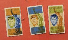 3 ERROR PERF KHOR FAKKAN JFK INVERTED OVERPRINTS MINT NEVER HINGED