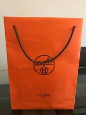 HERMES Orange Paper Carrier Shopping Bag