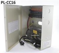 16 Channel CCTV Surveillance/Security Camera Power Supply Box (12VDC),  PL-CC16