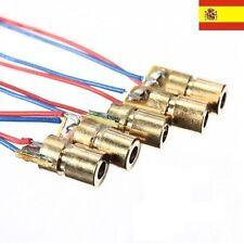 5x Diodos laser rojos 650 nm 5mW 6mm Arduino 5x red laser diodes ref48
