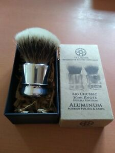 Shaving Brush. Artisan Romera Manchurian Badger in El Druida Aluminium handle.