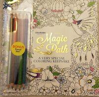 New Colorama The Magic Path adult coloring book Includes bonus pencil set ASOTV