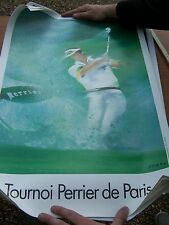 Perrier affiche ancienne collection golf Spahn 60/40cm papier epais
