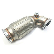 "3"" V-Band Flanged Downpipe Low Profile 90 Degree with Flex Bellow Pipe Stainless"