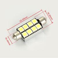 42mm 8 SMD 5050 LED White Canbus Number Plate Light c5w Festoon Dome Bulb 12V SH