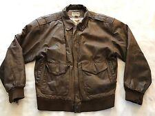 Otello Pelle Distressed Mens Leather Bomber Flight Jacket Size Medium NC1