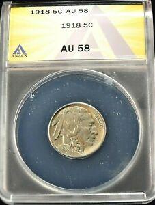 1918 USA Buffalo Nickel ANACS AU 58 Condition KM#134 (947)