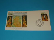 WWII FDC W12 Burma Road Britain Japan China * Conflicts * Stilwell * 50th Anniv