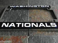 Motorcycle License Plate Frame - Washington Nationals - Chrome Laser Cut - MLB