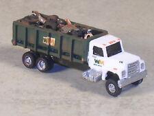 N Scale 2002 Waste Management Green Dumpster Truck w/ trash, #5445