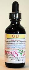 Herbs by Merlin GB (Gall Bladder) TINCTURE Organic  2 Fluid Oz