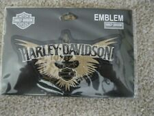 5 inch by 3 inch Harley-Davidson Upswept Golden Wings  Bar and Shield Patch