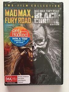 MAD MAX - Fury Road + MAD MAX Black & Chrome edition DVD PAL 4  NEW SEALED