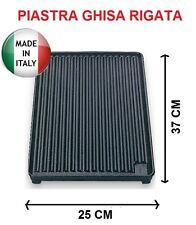 PIASTRA IN GHISA RIGATA D45 MISURE 37x25 CM MARCHIO BST BARBECUE - PESO 3,6 KG