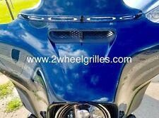 14 15 16 17 Harley Davidson Street Glide Custom Black Fairing Screen Grill Vent