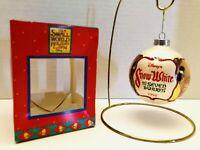 1994 Disney It's A Small World Snow White & The Seven Dwarfs Glass Ball Ornament