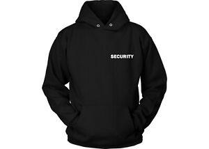 Security Staff Crew SIA Bouncer Doorman Logo High Quality Black Hoody S-5XL