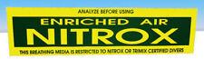 "Nitrox Scuba Dive Tank Bumper Sticker Decal  Heavy Vinyl 14.5"" x 3.5""  TriMix"