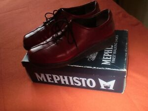 Chaussures Femme marque Mephisto, cuir rouge T41