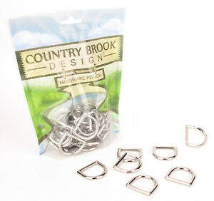 10 - Counrty Brook Design® 1 Inch Die Cast Square Bottom D-Rings
