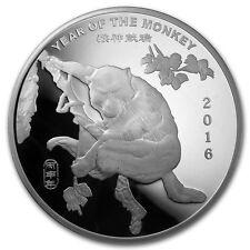 2016 Chinese Lunar Calendar Year Of The Monkey BU 10 oz .999 Silver Round Coin