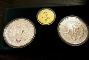 2000 The Sydney Olympic Coin Collection three coin set Gold and Silver Proof