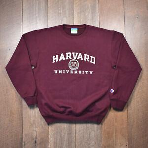 Vintage Champion Harvard University Sweatshirt - Youth Large Burgundy Sweater