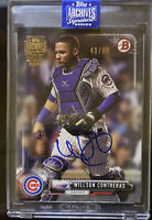 2020 Topps Archives WILLSON CONTRERAS jersey# 40/89 On-Card Auto - Chicago Cubs