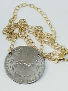 Mariamor Designs Two Tone Spread Love Hope Quarter Necklace
