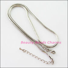 1Pc Dull Silver Plated Charms Snake Bracelets in 45cm Fit European Beads Chains
