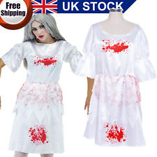 Bloody Zombie Maid Dress Adult Women Halloween Costume Cosplay Scary Fancy Dress