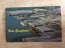 Port Everglades Harbor Ft Lauderdale-Hollywood Florida Vtg Postcard Posted 1978
