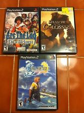 Final Fantasy X, Arc the Lad, Shadow of the Colossus PS2 games books black label