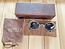 Matsuda Vintage Sunglasses 10610 Titanium Titan Shield 1990s Ultra Rare!